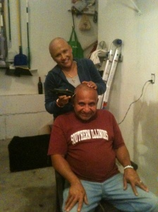 DAD WANTED A BALD HEAD TOO!!