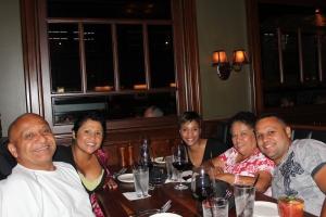 chemo graduation celebration steak dinner!!