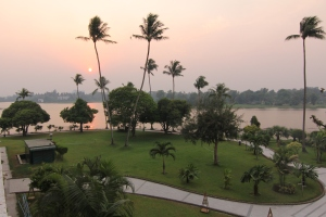 sunrise on inya lake