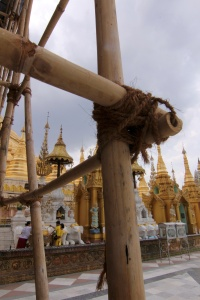 no metal scafolding needed we have bamboo and string??